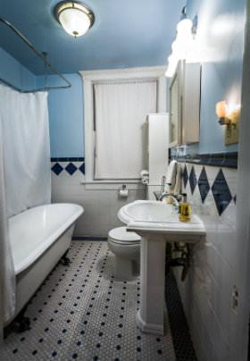 Greenglass bathroom